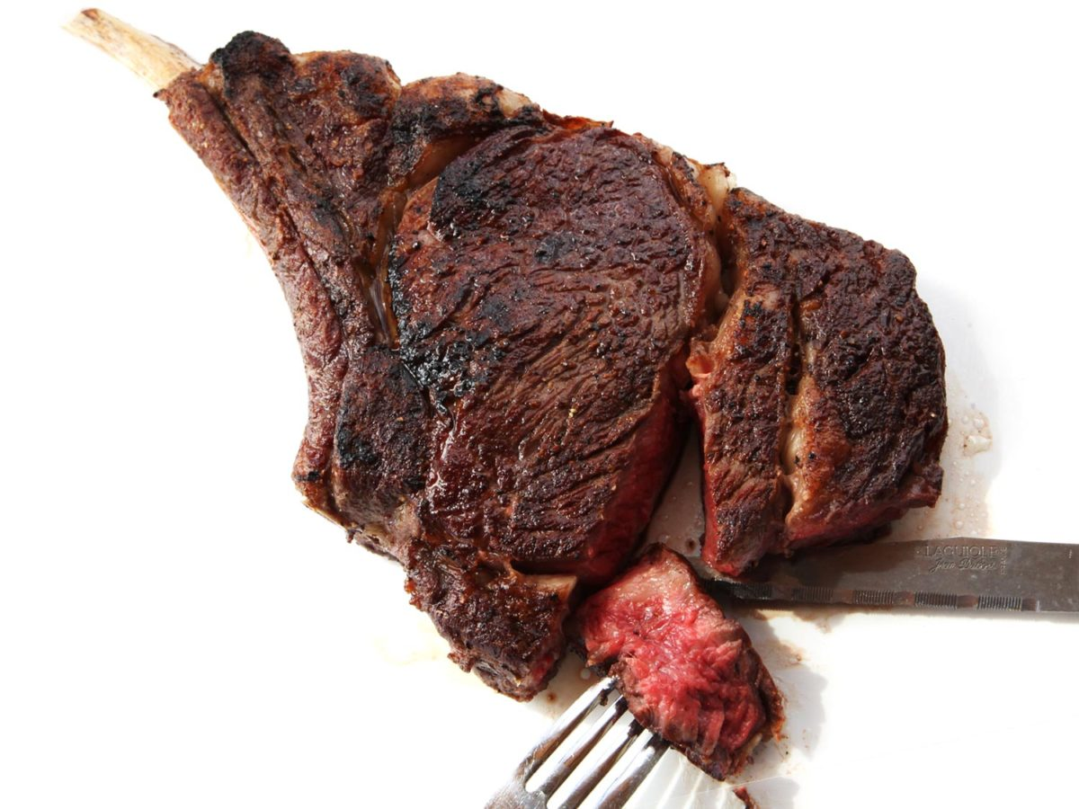 The great irony about cooking a perfectly juicy steak